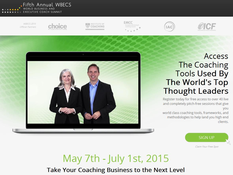 web de WBECS 2015 conferencia para coaches ejecutivos y de negocios