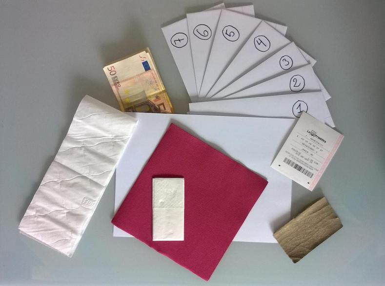 foto de como regalar dinero de forma original en una boda